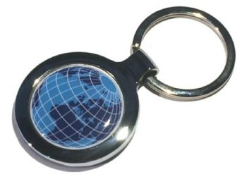 Round keyring round decal